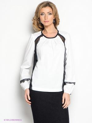 Блузка LUIGI FERRO. Цвет: белый, черный