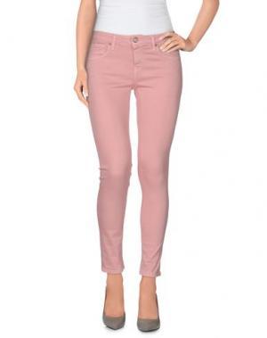 Джинсовые брюки BLAUER. Цвет: розовый
