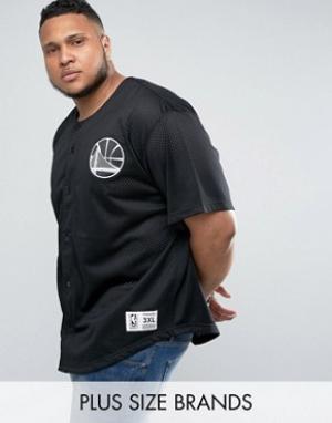Mitchell & Ness Сетчатая футболка Golden State Warriors NBA PLUS. Цвет: черный
