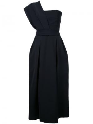 Вечернее платье на одно плечо Preen By Thornton Bregazzi. Цвет: чёрный