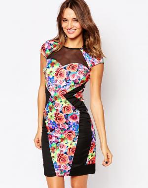 Amy Childs Платье с цветочным принтом Serena. Цвет: мульти