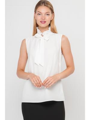 Блузка Limonti. Цвет: белый