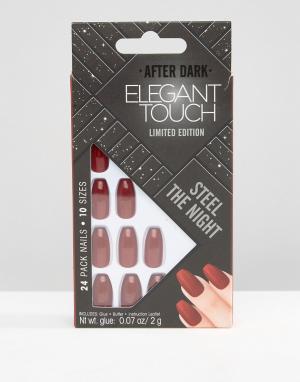 Elegant Touch Накладные ногти с искусственным жемчугом House of Holland Luxe by Eleg. Цвет: красный