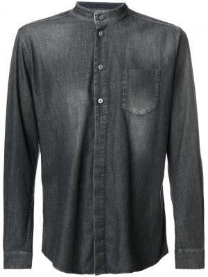 Джинсовая рубашка с воротником-мандарин Weber +. Цвет: серый