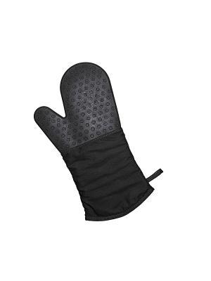 Перчатка-прихватка с защитой из силикона (черная) Lurch. Цвет: черный