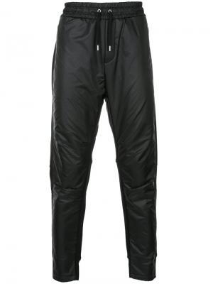 Зауженные спортивные брюки Public School. Цвет: чёрный