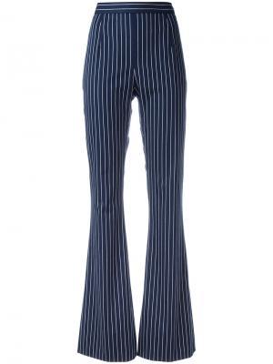 Полосатые брюки с завышенной талией Pierre Balmain. Цвет: синий