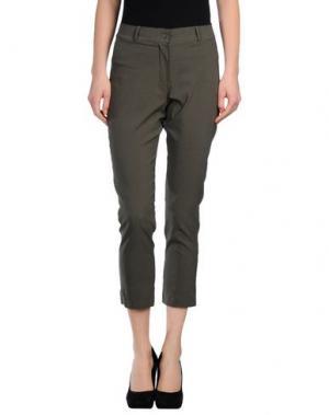 Повседневные брюки CLUB VOLTAIRE. Цвет: зеленый-милитари