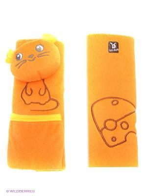 Накладка для ремня безопасности Мышь BenBat. Цвет: оранжевый