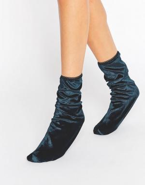 Gipsy Бархатные носки. Цвет: синий