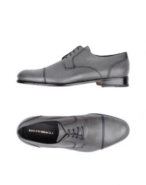 Обувь на шнурках BRUNO MAGLI. Цвет: свинцово-серый