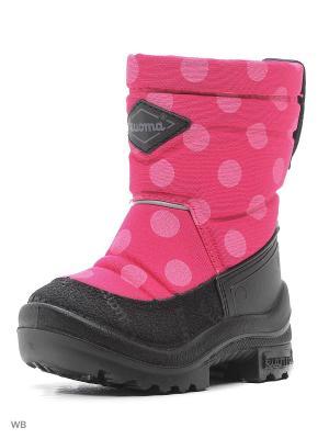 Сапоги KUOMA. Цвет: черный, розовый, серебристый
