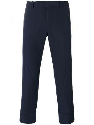 Укороченные брюки Paolo Pecora. Цвет: синий