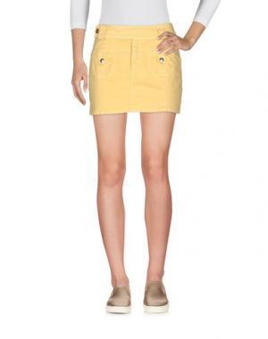 Джинсовая юбка BLUMARINE JEANS. Цвет: желтый