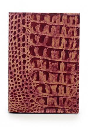 Обложка для паспорта Franchesco Mariscotti. Цвет: розовый