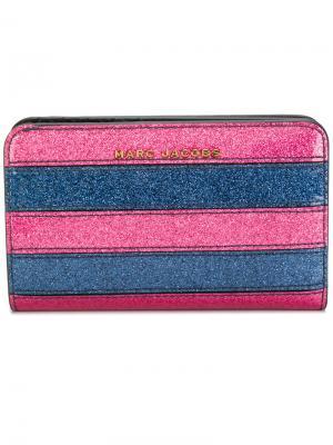 Полосатый кошелек с блестками Marc Jacobs. Цвет: розовый и фиолетовый