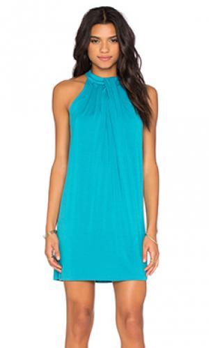 Платье sasha Michael Stars. Цвет: бирюзовый