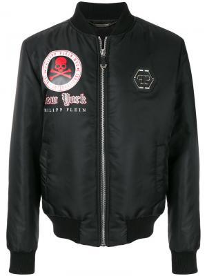 Куртка-бомбер King New York Philipp Plein. Цвет: чёрный