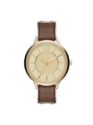 Часы Armani Exchange. Цвет: золотистый, коричневый