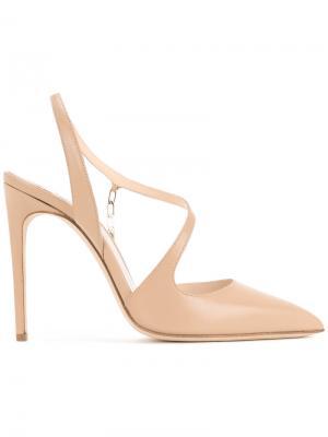Асимметричные туфли-лодочки Olgana. Цвет: телесный