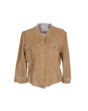 Куртка PINK MEMORIES. Цвет: верблюжий
