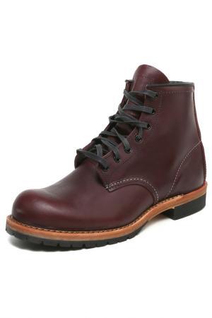 Ботинки RED WING. Цвет: бордовый