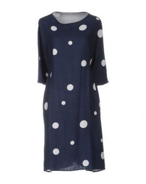 Короткое платье A.B APUNTOB. Цвет: грифельно-синий