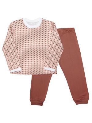 Пижама Веселый малыш. Цвет: бежевый, светло-коричневый
