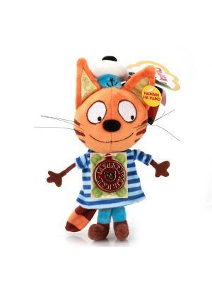 Мягкая игрушка мульти-пульти 3 кота. Коржик 14см. Цвет: оранжевый, коричневый, синий