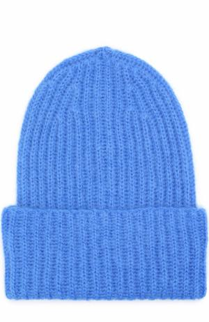 Вязаная шапка Tak.Ori. Цвет: голубой