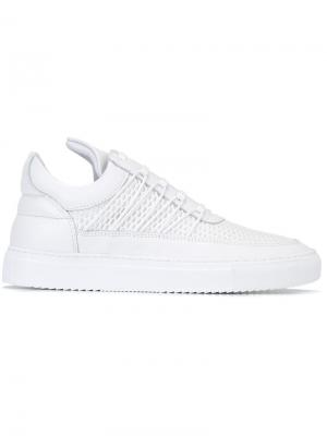 Кеды с удлиненным язычком Filling Pieces. Цвет: белый
