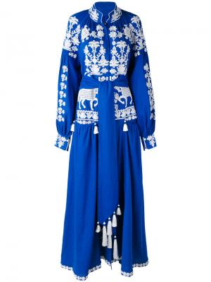 Платье Litopys Yuliya Magdych. Цвет: синий