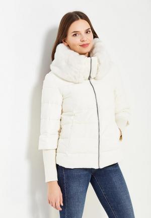 Куртка утепленная Sisley. Цвет: белый