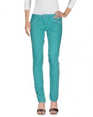 Джинсовые брюки TAKESHY KUROSAWA. Цвет: зеленый