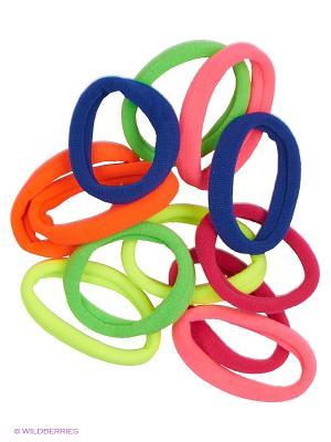 Набор разноцветных резинок для волос 12 шт. JD.ZARZIS. Цвет: желтый, зеленый, красный, синий