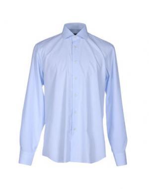 Pубашка ZANETTI. Цвет: небесно-голубой