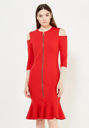 Платье Pinko. Цвет: красный