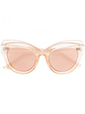 Солнцезащитные очки в оправе кошачий глаз Le Specs. Цвет: телесный