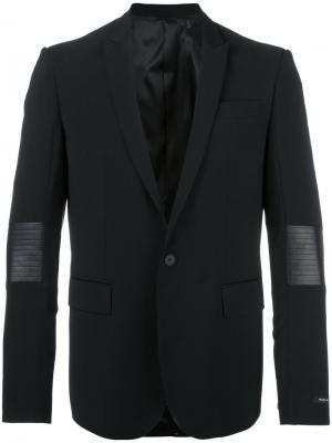 Классический пиджак Les Hommes. Цвет: чёрный