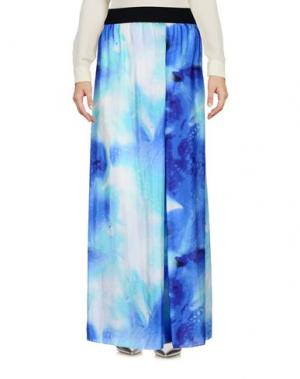 Длинная юбка MARIA CALDERARA. Цвет: синий