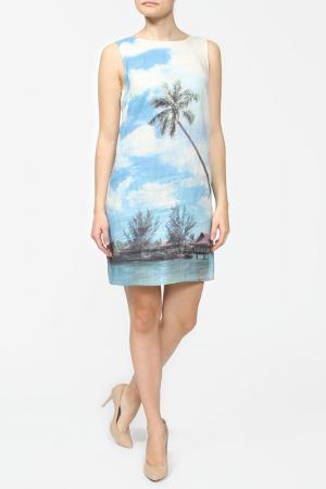 Платье Gouache. Цвет: голубой