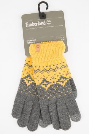 Перчатки Timberland. Цвет: серый, желтый