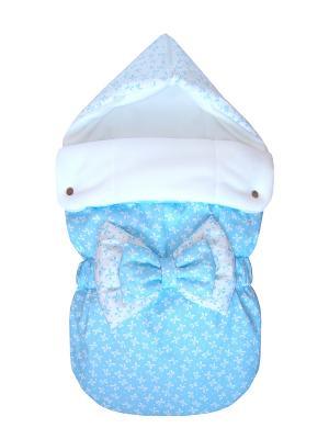 Конверт на выписку JustCute Ромео Blue (весна) СуперМаМкет. Цвет: голубой, белый