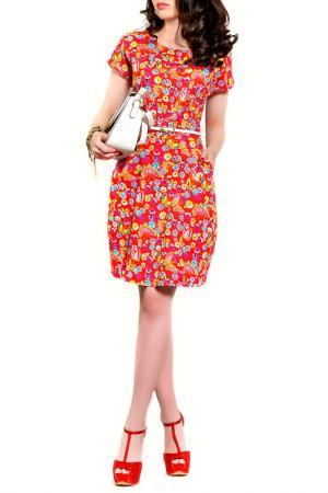 Платье MONT PELLIER. Цвет: цветочный