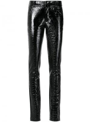 Текстурированные брюки скинни Tufi Duek. Цвет: чёрный