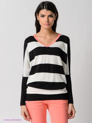 Пуловер Broadway. Цвет: белый, черный, оранжевый