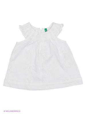 Блузка United Colors of Benetton. Цвет: светло-серый, белый, кремовый