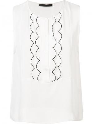 Блузка с фестонами Jenni Kayne. Цвет: белый