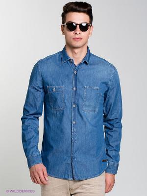 Рубашка MONTENEGRO Salsa. Цвет: синий