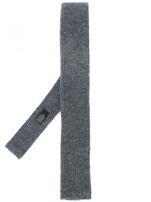 Трикотажный галстук Corneliani. Цвет: серый